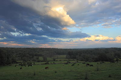 Photograph - Clearing Storm Over Cow Pasture by John Burk