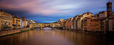 Clearing Storm Over Florence Art Print by Andrew Soundarajan