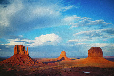 Photograph - Clearing Storm Over Monument Valley  by Mark Miller