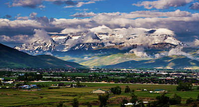 Photograph - Clearing Storm Over Mount Timpanogos by TL Mair