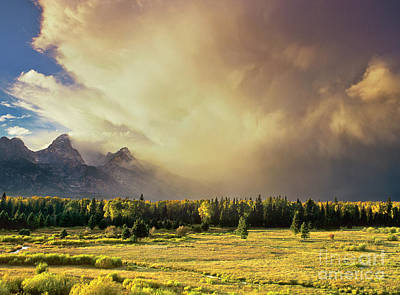 Photograph - Clearing Summer Storm Grand Tetons National Park by Dave Welling