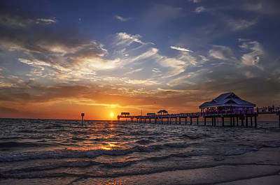 Clearwater Beach Seascape Art Print by Bill Cannon