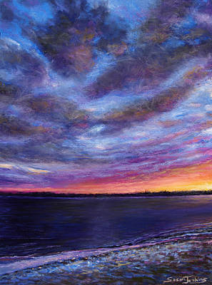 Pastel - Clearwater Beach Sunset by Susan Jenkins