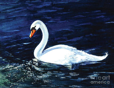 Painting - Clearwater Swan by Sher Sester