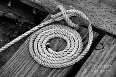 Photograph - Cleat And Coil by Denise Bruchman