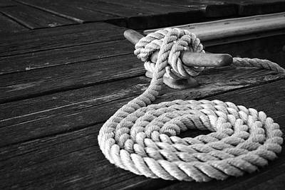 Photograph - Cleat Rope Yacht Know Wall Art by Wall Art Prints
