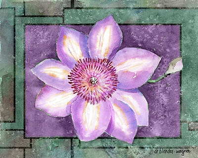 Flower Painting - Clematis by Arline Wagner