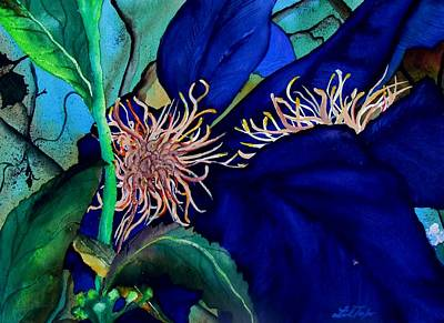 Clematis Regal In Purple And Blue Sold Art Print