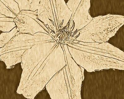 Digital Art - Clematis by Susan Lafleur