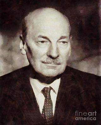 Clements Painting - Clement Attlee, Prime Minister United Kingdom By Sarah Kirk by Sarah Kirk