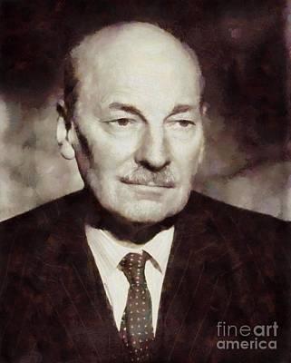 Clement Attlee, Prime Minister United Kingdom By Sarah Kirk Art Print