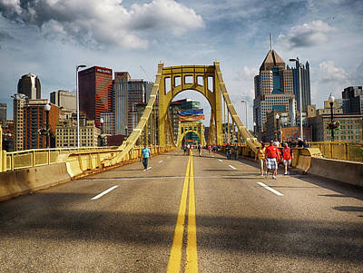 Photograph - Clemente Bridge On The Way To The Game by C H Apperson
