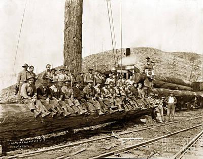 Photograph - Clemons Logging Company Camp Circa 1925 by California Views Mr Pat Hathaway Archives