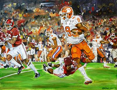 Painting - Clemson Vs Alabama by Bryan Bustard
