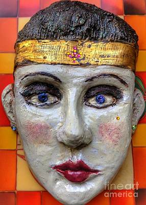 Ceramic Art - Cleo 2 by Joan-Violet Stretch
