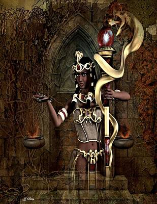 Cleo Photograph - Cleo And The Serpent by G Berry