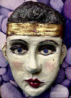 Ceramic Art - Cleo by Joan-Violet Stretch