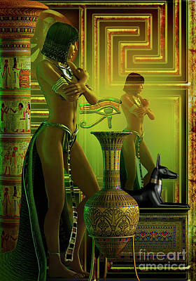 Cleo Reflections Art Print by Shadowlea Is