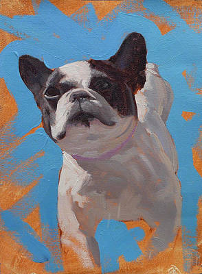 French Bull Dog Wall Art - Painting - Cleo The French Bull Dog by Taylor Paints