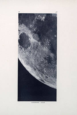 Drawing - Cleomedes 02 - Surface Of The Moon - Lunar Surface - Old Atlas - Celestial Chart by Studio Grafiikka