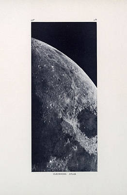 Drawing - Cleomedes - Surface Of The Moon - Lunar Surface - Old Atlas - Celestial Chart by Studio Grafiikka