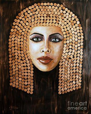 Pharaoh Mixed Media - Cleopatra by Arturas Slapsys