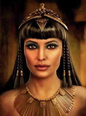 Egyptian Goddess Isis Painting - Cleopatra by Joe Roberts
