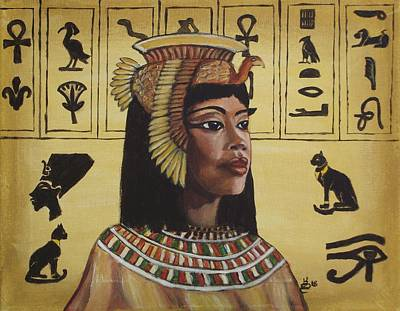 Painting - Cleopatra by Kim Selig