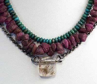 Triple Strand Jewelry - Cleopatra Necklace by Mirinda Kossoff