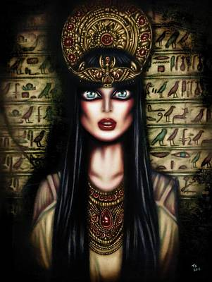 Best Sellers - Surrealism Royalty-Free and Rights-Managed Images - Cleopatra Painting by Tiago Azevedo Pop Surrealism Art by Tiago Azevedo