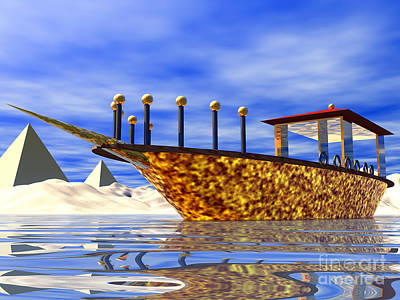 Digital Art - Cleopatra's Barge by Nicholas Burningham