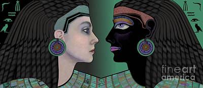 Digital Art - Cleopatra's Mirror by Carol Jacobs