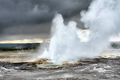 Spray Paint Photograph - Clepsydra Geyser West Yellowstone National Park Usa Wy by Christine Till
