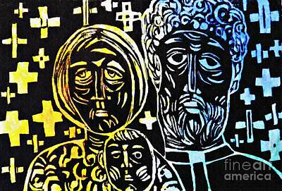 Mixed Media - Clergy Family by Sarah Loft