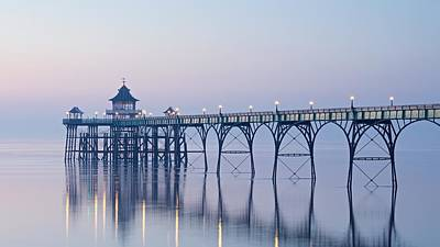 Photograph - Clevedon Pier At Dusk by Stephen Taylor