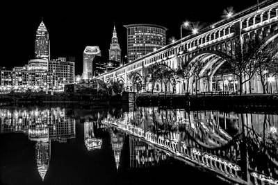 Photograph - Cleveland After Dark by Brent Durken