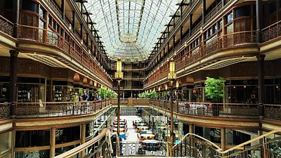 Architecture Photograph - Cleveland Arcade In Color by Ric Schafer