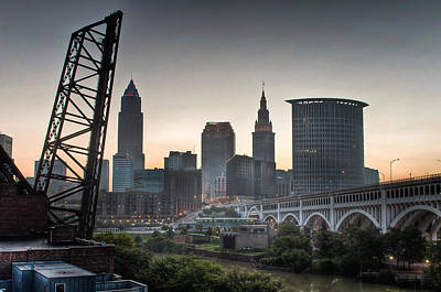 Cleveland Awakens Print by At Lands End Photography