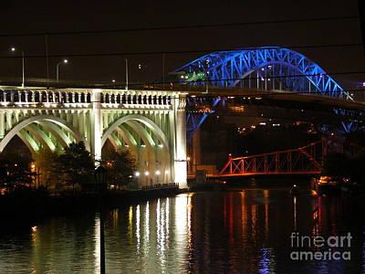 Cleveland Bridge Series 7 Art Print by Donna Stewart