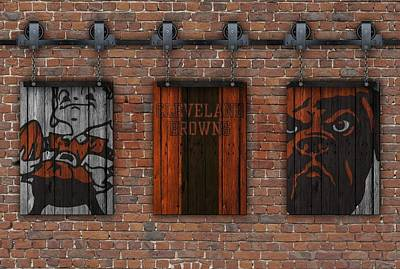 Photograph - Cleveland Browns Brick Wall by Joe Hamilton