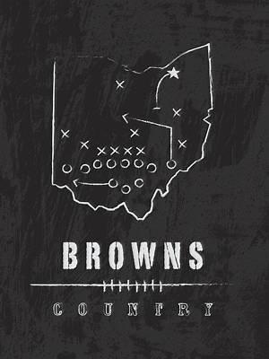 Cleveland Browns Art - Nfl Football Wall Print Art Print by Damon Gray