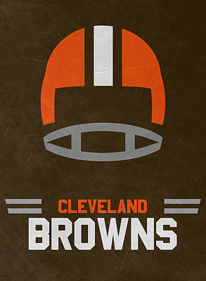 Mixed Media - Cleveland Browns Vintage Art by Joe Hamilton