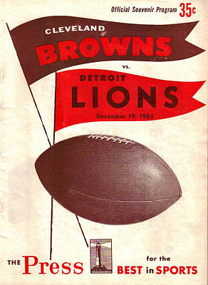 Browns Photograph - Cleveland Browns Vintage Program 4 by Joe Hamilton