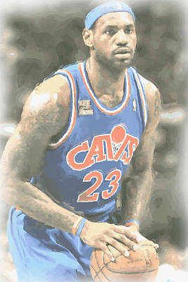 Cleveland Cavaliers Lebron James 1 Print by Joe Hamilton