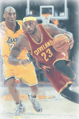 Cleveland Cavaliers Lebron James 3 Print by Joe Hamilton