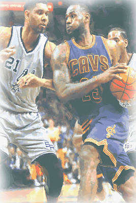 Cleveland Cavaliers Lebron James 4 Print by Joe Hamilton