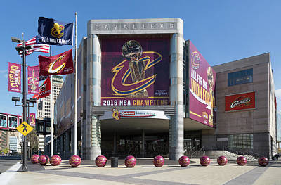 Athletes Royalty-Free and Rights-Managed Images - Cleveland Cavaliers The Q by Dale Kincaid