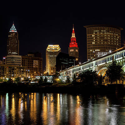 Photograph - Cleveland Celebrates The Wine And Gold by Dale Kincaid