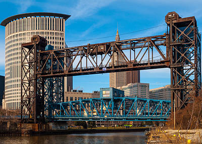 Photograph - Cleveland City Of Bridges by Stewart Helberg