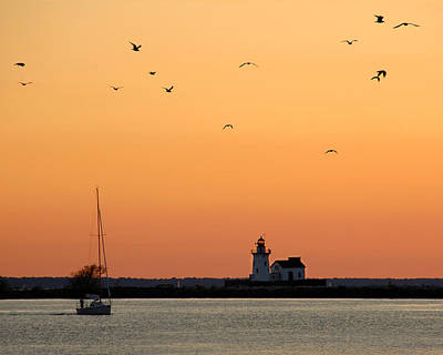 Photograph - Cleveland Harbor Sunset by Jon Holiday